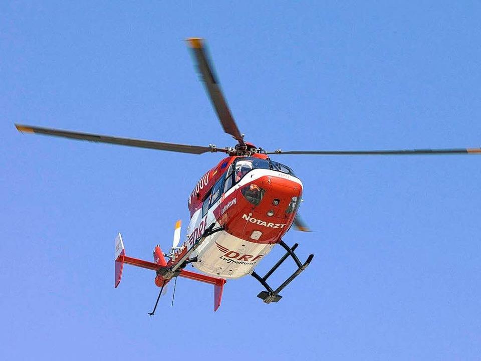 Ein Rettungshubschrauber im Anflug.   | Foto: DRF luftrettung