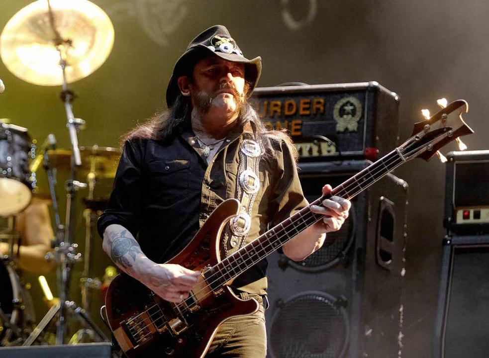 Lemmy Kilmister, Sänger von Motörhead,... 2014 will er nun in Colmar auftreten.    Foto: dpa