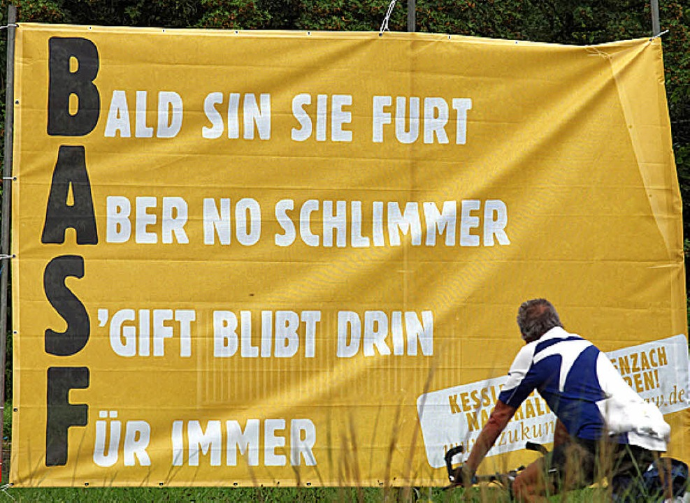 Protestplakat der BI   | Foto: Thomas Dix