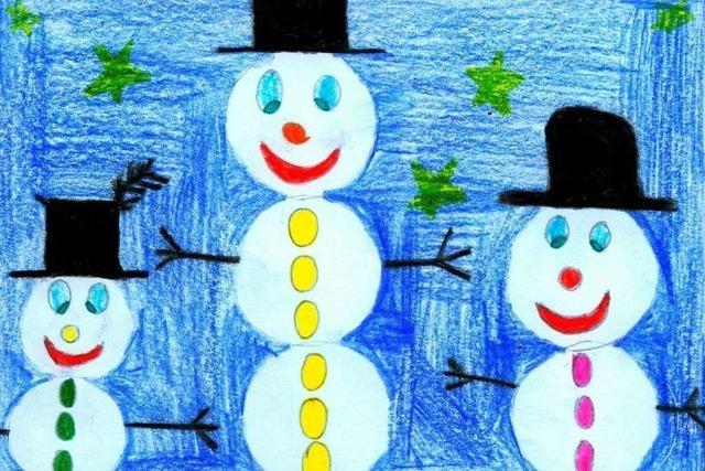 Weihnachtskarten-Malwettbewerb 2013