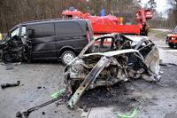 Ein Toter und drei Verletzte bei Unfall auf der A5
