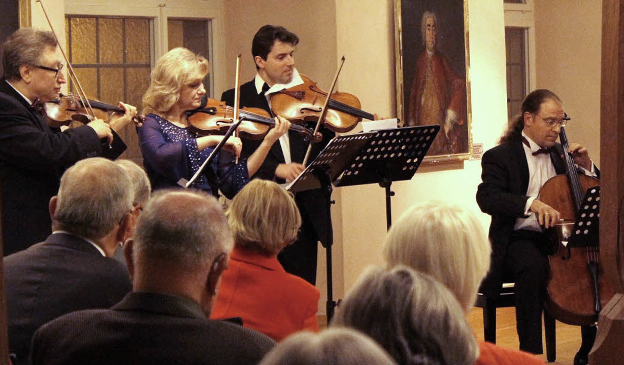 Das Gershwin-Streichquartett ist am ve... Bürgersaal in Ettenheim aufgetreten.   | Foto: Adrian Hofmann