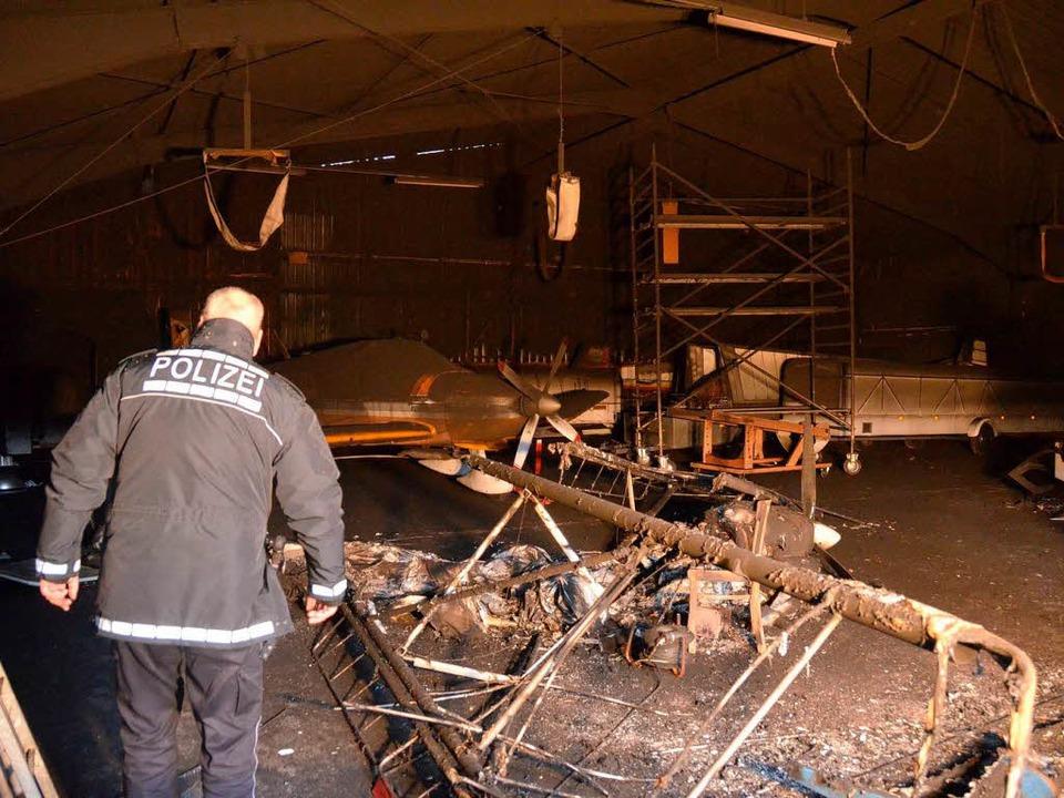 Mehrere hundertausend Euro Schaden: ve...r des Luftsportvereins Markgräflerland  | Foto: Julia Jacob