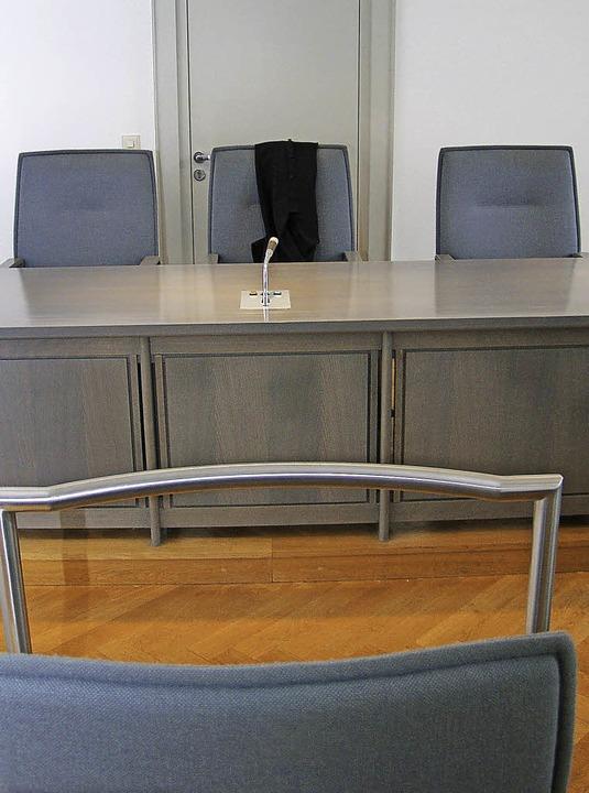 Der Zeugenstand in Saal 1 des Emmendinger Amtsgerichtes.  | Foto: Marius Alexander