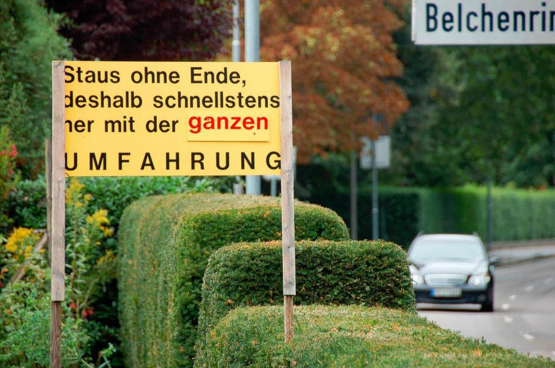 Staufen bekommt die von zahlreichen Bürgern geforderte Umfahrung.  | Foto: Markus Donner