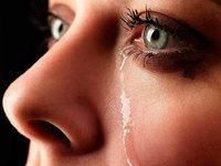 Nur Menschen vergießen Tränen der Freude und der Trauer