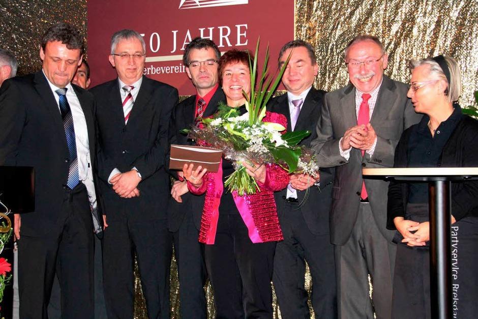 Von links: Matthias Engist, Manuela Walz, Georg Bohlinger, Mark Placzek und Stefan Haag,  Dieter Hartmann und Ulrike Pigulowski. (Foto: Sabine Model)