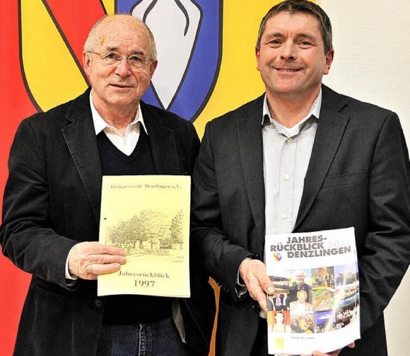 Dieter Ohmberger (links), mit dem erst...et, was sich nicht nur äußerlich zeigt  | Foto: Markus Zimmermann