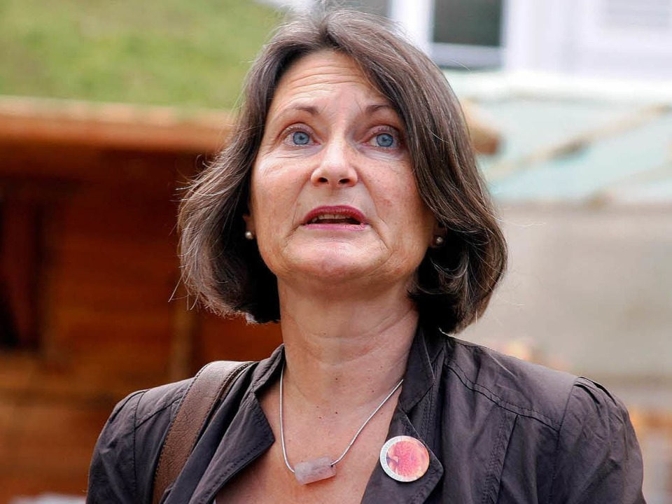 Bärbel Schäfer kritisiert die Bahn, we...ei der Rheintaltrasse nicht vorangeht.  | Foto: Heidi Foessel