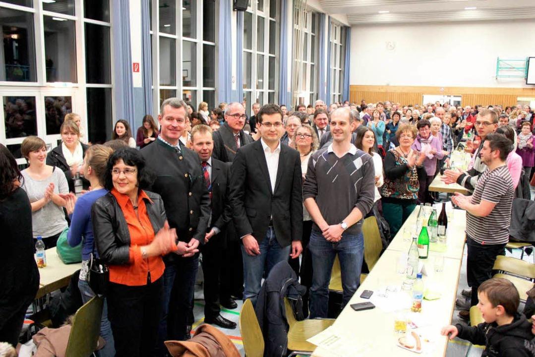 Kurz nach der  Bekanntgabe des Wahlergebnisses  | Foto: Mario Schöneberg