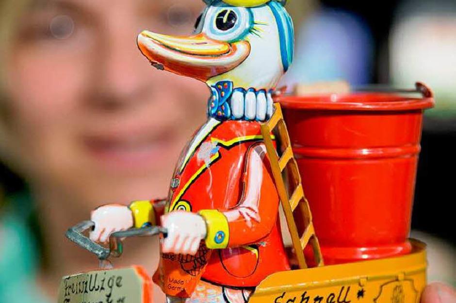Blechspielzeug des deutschen Herstellers Walter & Prediger (Foto: dpa)