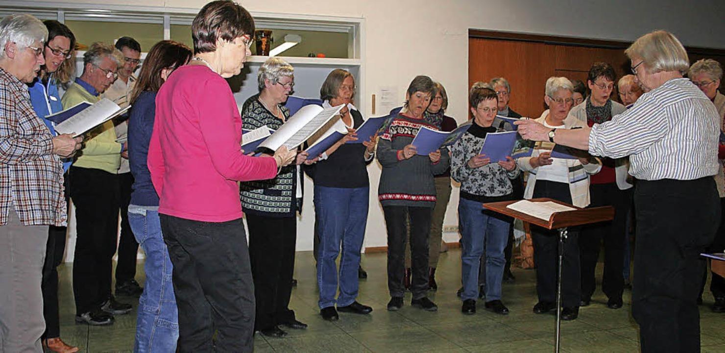 Zeitgeist in musikalischer Form zeigt ...menischen Kirchenchor. Foto: Ines Bode  | Foto: Ines Bode
