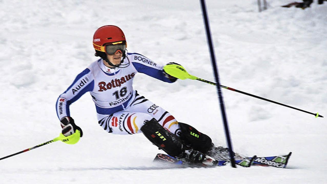 Ein Könner auf der Kante: Yannick Zell... FIS-Slalom am Sonntag schied er aus.   | Foto: Hauck