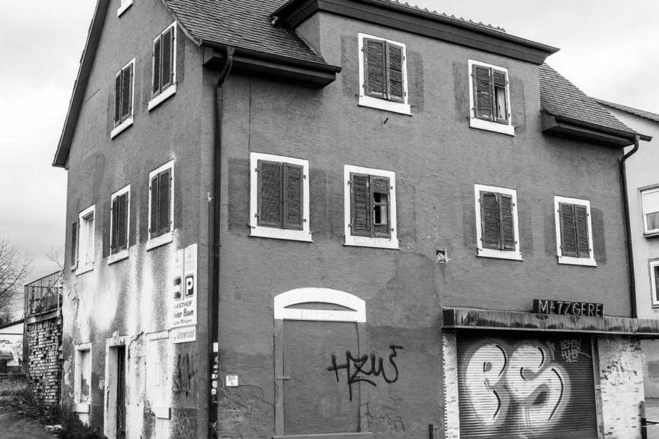 Ein letzter Blick auf die alte Metzgerei in Denzlingen (Foto: Carlotta Huber)