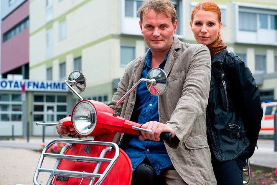 SAARBRÜCKEN seit 2013 (SR): Jens Stellbrink (Devid Striesow) und Lisa Marx (Elisabeth Brück) [10 Punkte: Top.  1 Punkt: Flop] (Foto: Oliver Dietze)