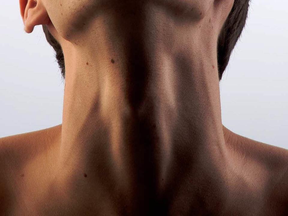 Verborgen, aber wichtig für das Wohlbe...chmiegt sich von unten an den Kehlkopf  | Foto: flia