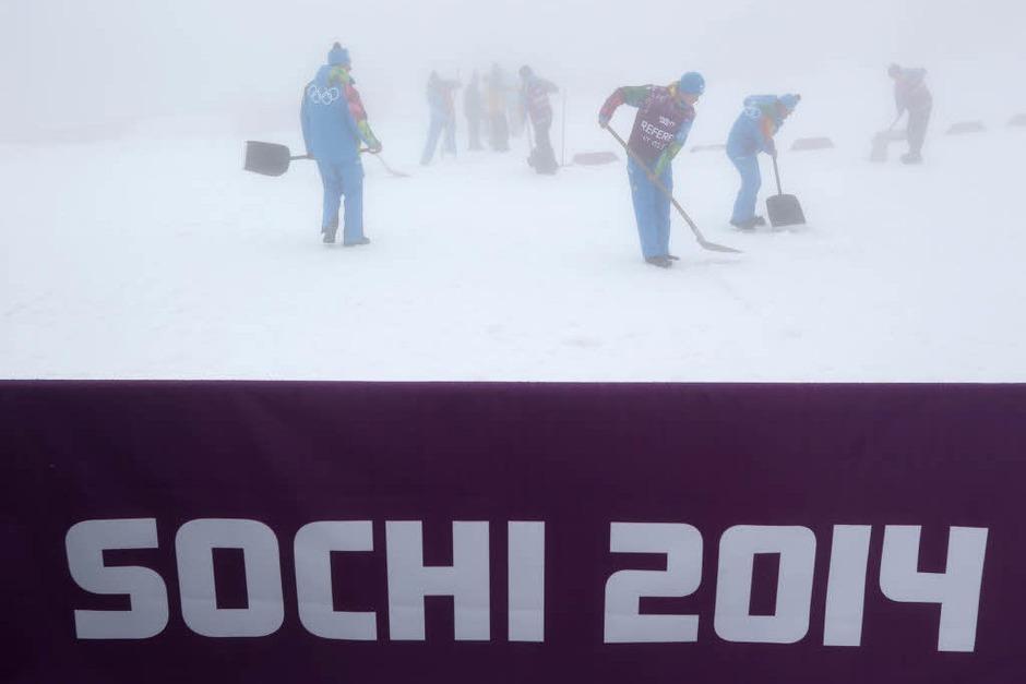 Sotschi im Nebel (Foto: dpa)