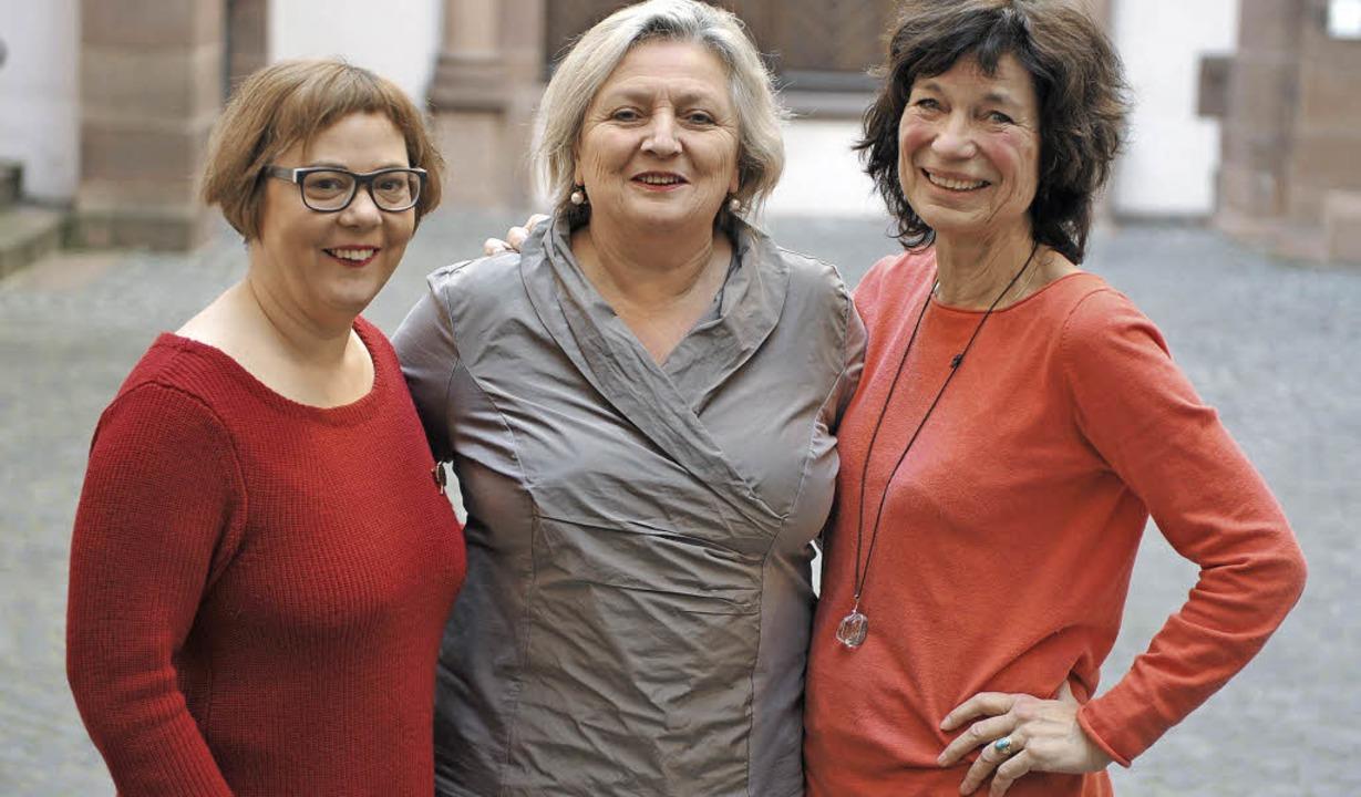 Spitzentrio der Unabhängigen Frauen (v...nittel, Irene Vogel, Martina Herrmann   | Foto: eggstein