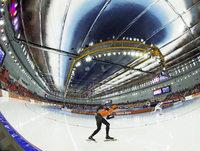 Das orange M�rchen auf dem Eis