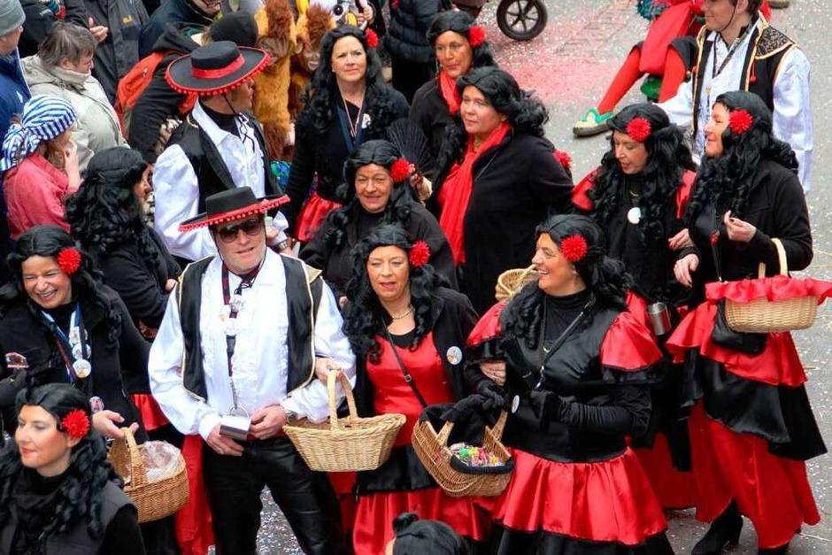 Eine prächtige Narrenparade defilierte zum   Rosenmontagsumzug durch Heitersheim. (Foto: Sabine Model)