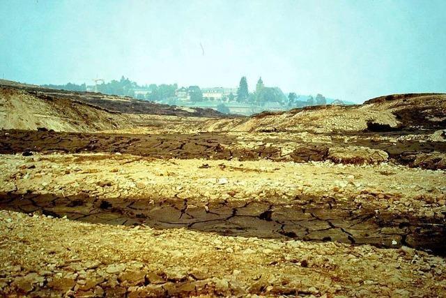 Fotos aus dem Jahr 1983: Schluchsee ohne Wasser