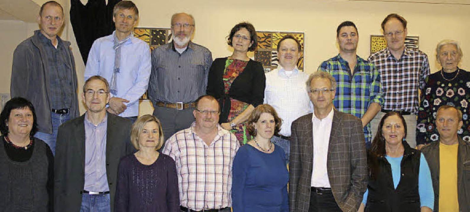 Die Kandidaten: (hinten von links)  Di...er und Willi Kerscher. Foto: Ines Bode    Foto: Ines Bode