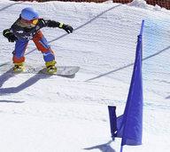 Gold auf dem Snowboard