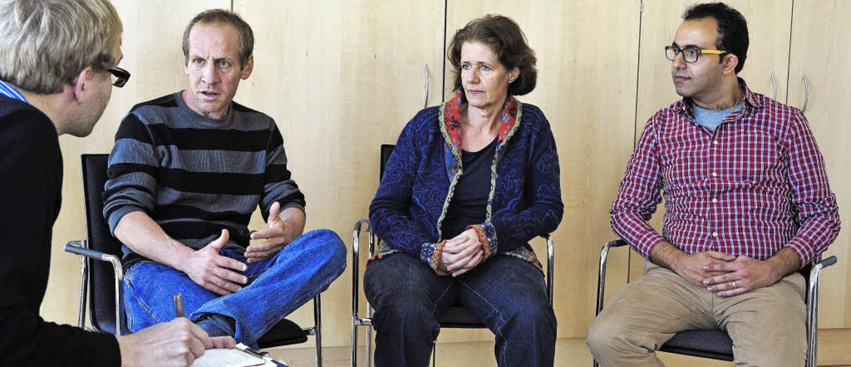 Trialog für Frieden in Nahost: Avner D...eute und Antwan Saca Saleh (von links)  | Foto: Thomas Kunz