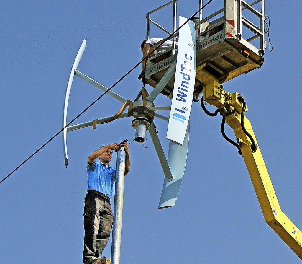 private windkraftanlage produziert sauberen strom vogtsburg badische zeitung. Black Bedroom Furniture Sets. Home Design Ideas