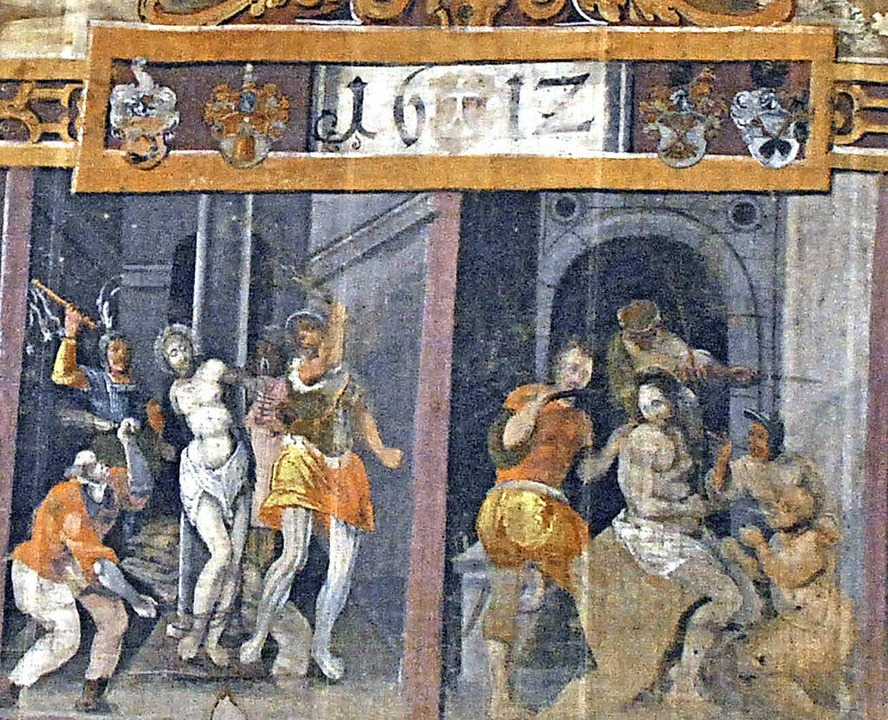 Szene aus dem Fastentuch    Foto: Erzdiözese