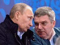 IOC-Pr�sident Bach nach Putin-Einladung in der Kritik