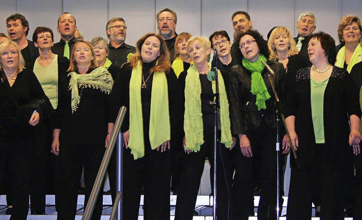 Der Gemischte Chor Intermezzo (unser B...nde in der Ihringer Kaiserstuhlhalle.   | Foto: Elisabeth Jakob-Kölblin