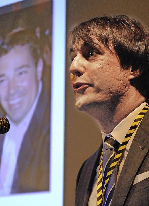 Chris Kiefer, Präsident der Wirtschaftsjunioren am Hochrhein     Foto: Mink