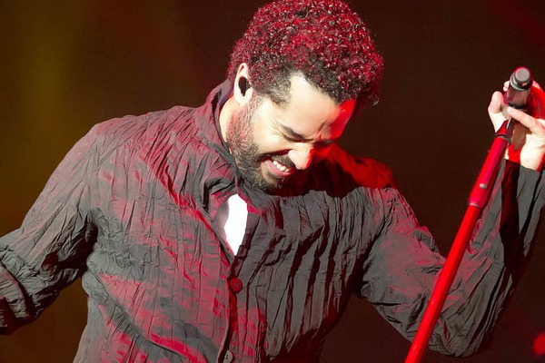 Adel Tawil in der Rothaus-Arena in Freiburg.