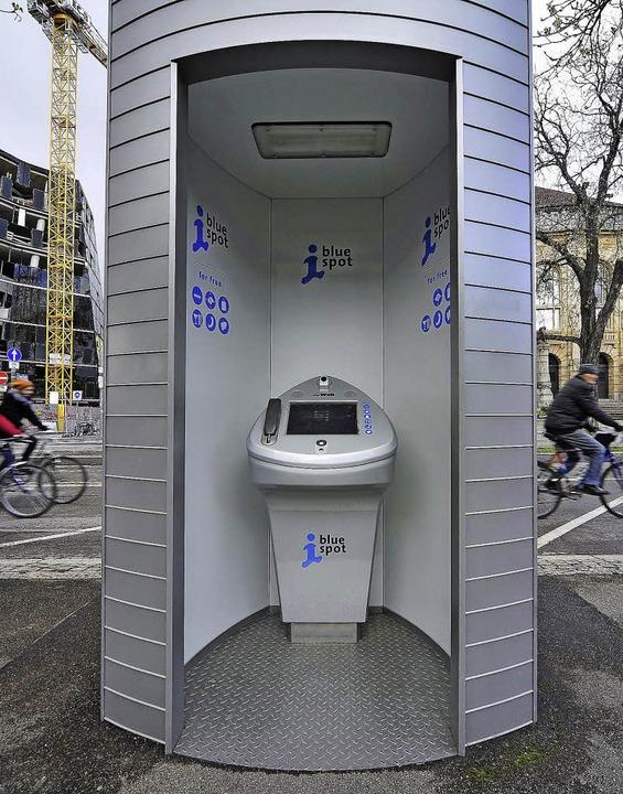 Werbung mit Internet-Terminal: Ein Sta...as Werbenetz wird neu ausgeschrieben.   | Foto: Thomas Kunz