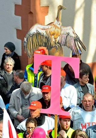 Mitarbeiter der Telekom in Freiburg hatten am Mittwoch und Donnerstag die Arbeit niedergelegt.