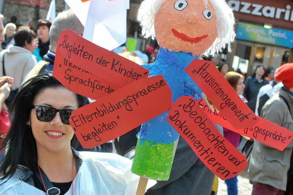Am Donnerstag wurden in Freiburg die städtischen Kitas bestreikt. (Foto: Michael Bamberger)