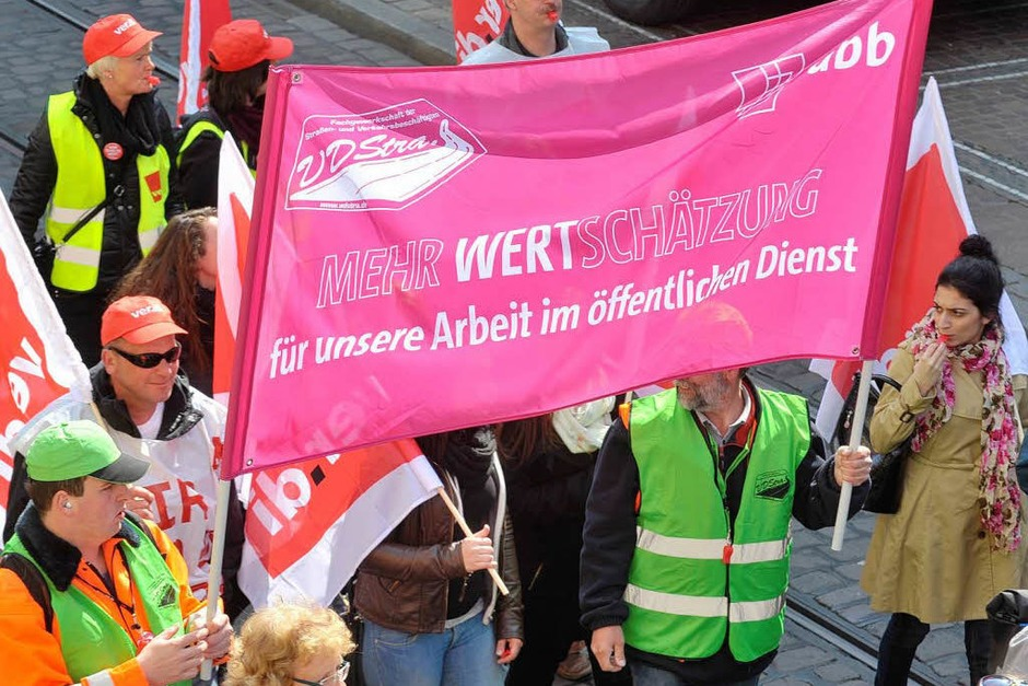 Verdi-Kundgebung in Freiburg (Foto: Michael Bamberger)