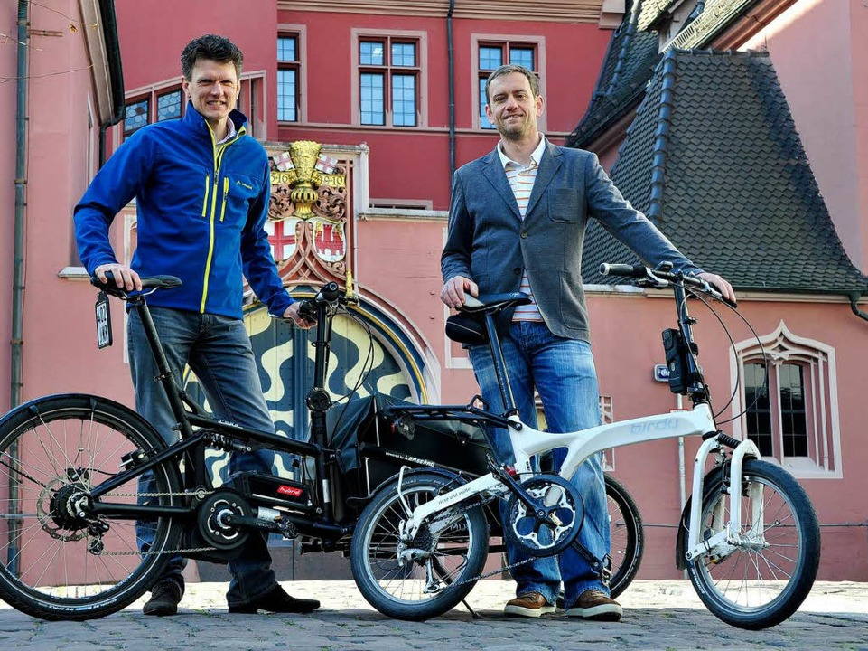 Mit dem Dienstrad auf Tour: Firma Leaserad, Preisträgerin beim BZ-Jobmotor 2013  | Foto: Thomas Kunz