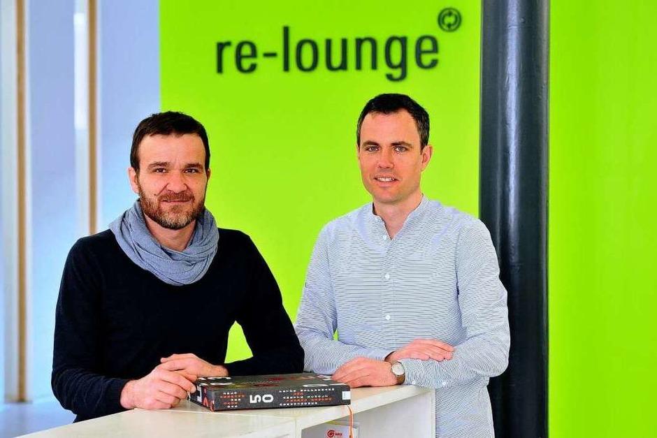 Jobmotor 2013, Re-Lounge in Freiburg, Geschäftsführer   Dietmar vom Berg (li.) und Oliver Schmitt (Foto: Thomas Kunz)