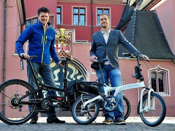 Jobmotor 2013, Leaserad in Freiburg, Geschäftsführer Ulrich Prediger (li.) und Holger Tumat
