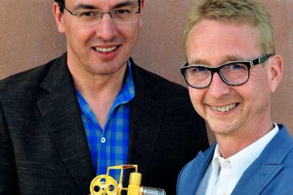 Jobmotor 2013, Pflegedienst  Hornbruch in Gundelfingen, Geschäftsführer Thomas Balzer (li.) und Michael Hornbruch (Foto: Thomas Kunz)