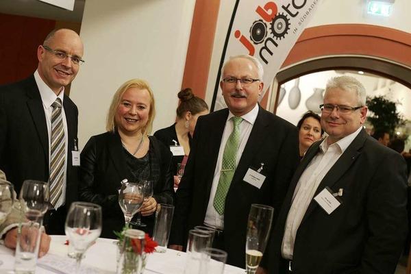 Treffpunkt für die Vertreterinnen und Vertreter der südbadischen Wirtschaft: die Jobmotor-Party.