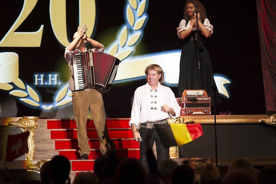 Hansi Hinterseer in der Rothaus-Arena in Freiburg. (Foto: Daniel Fleig)