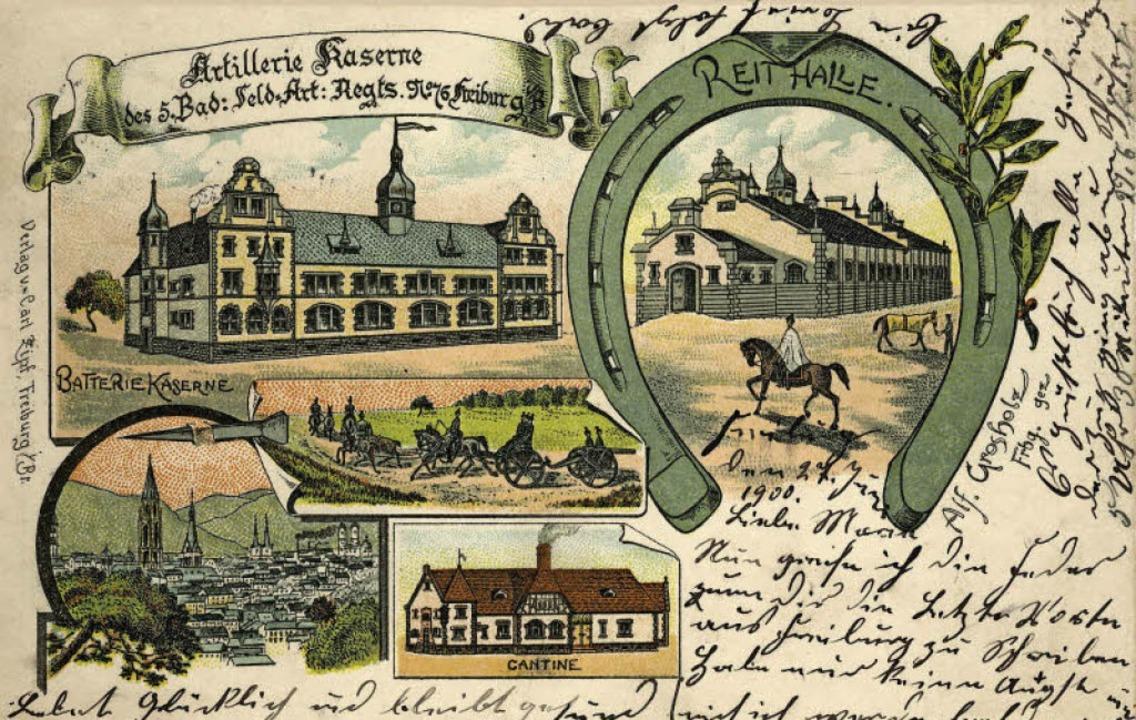 Relikt der einstigen Garnisonsstadt Fr... auf einer 1901 gezeichneten Postkarte    Foto:  Archiv Manfred Gallo