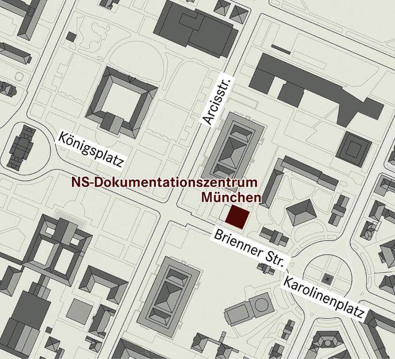 Zwischen Königsplatz (links) und Karol...  liegt das NS-Dokumentationszentrum.   | Foto: NS-Dokumentationszentrum