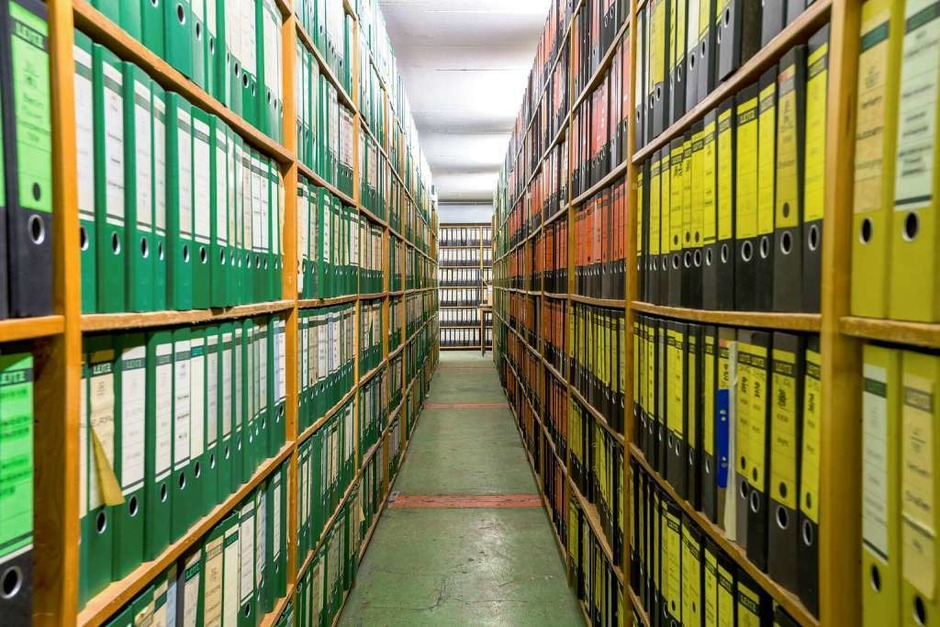 Das Papier-Archiv der Badischen Zeitung ist nur noch für Redakteure zugänglich. (Foto: Oliver Huber)
