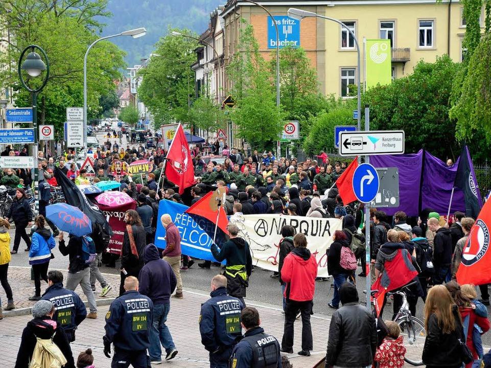 Demonstration in Freiburg am 1. Mai    Foto: Thomas Kunz