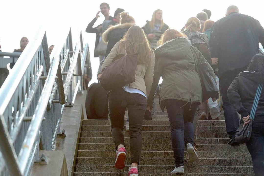 Treppensteigen am Hauptbahnhof  | Foto: Ingo Schneider