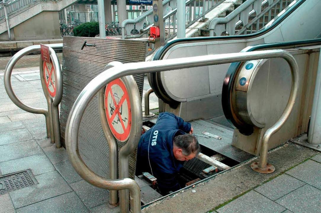 Häufig defekt: die Rolltreppen.  | Foto: Brigitte Sasse
